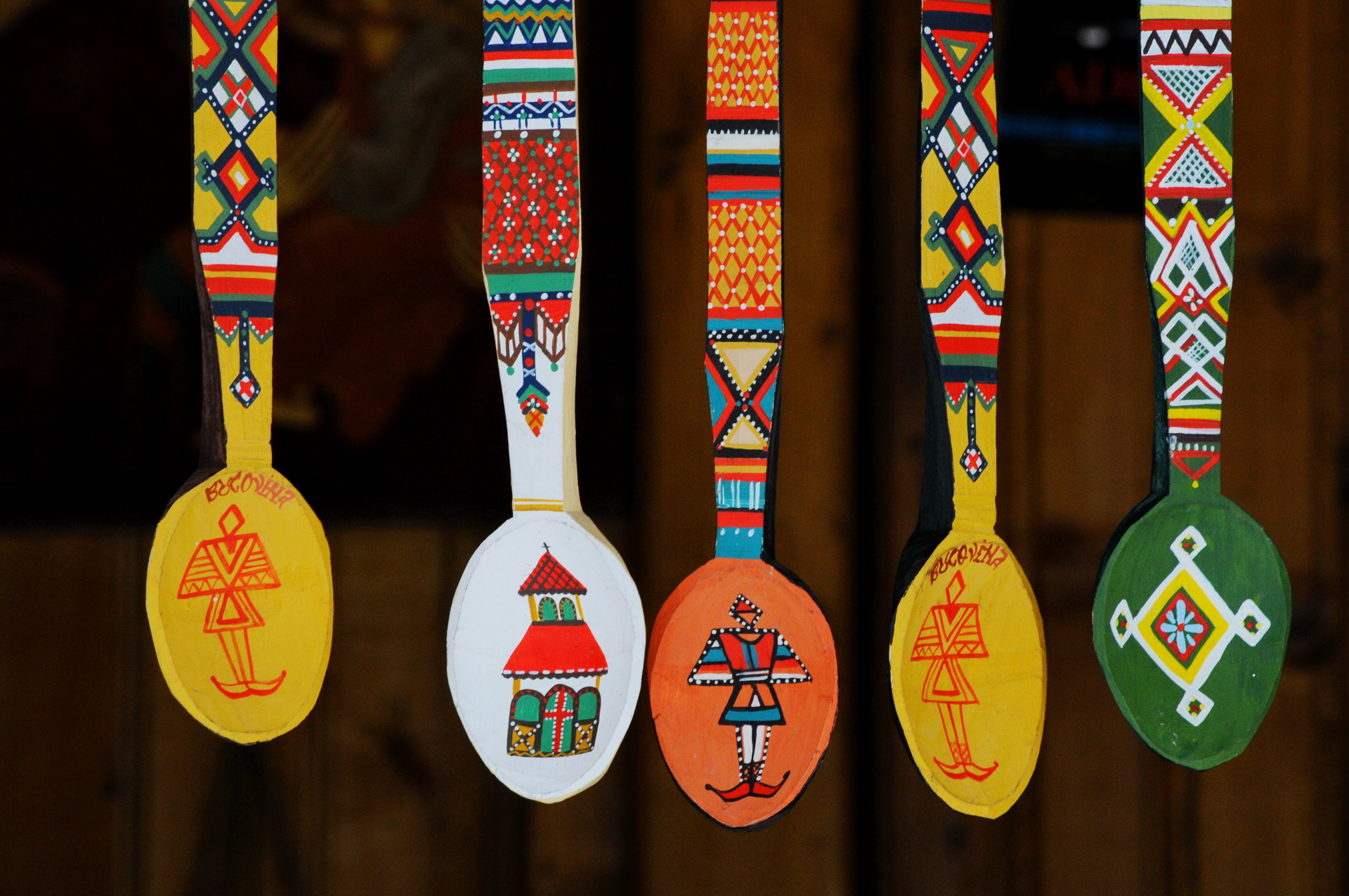 traditional spoons from Bukovina