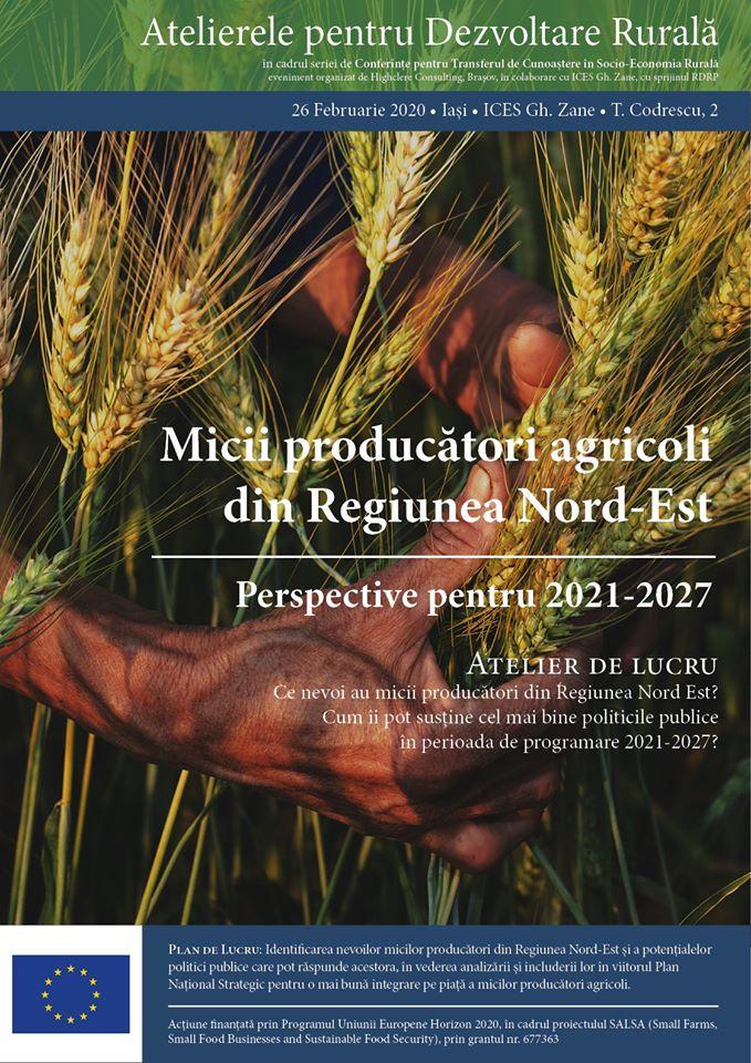 Afis Atelierul Micii producatori agricoli in RDNE