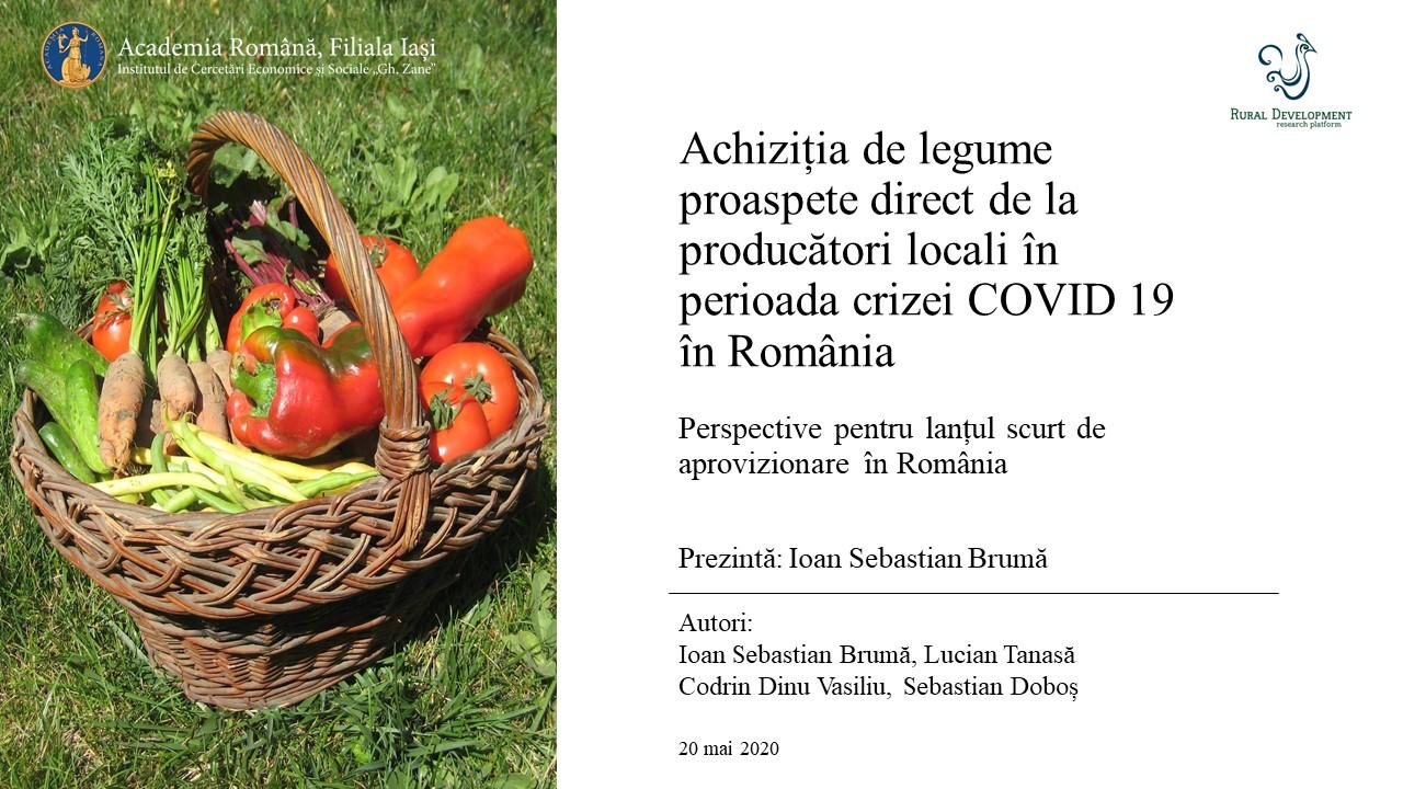 Bruma Achizitie legume covid 19